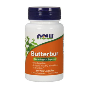 Butterbur 60 Veg Caps by Now Foods (2584144347221)