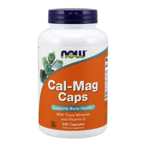 Cal-Mag 240 Caps by Now Foods (2584145100885)