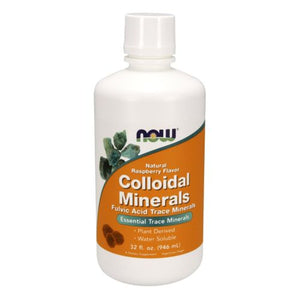 Colloidal Minerals RASPBERRY, 32 Oz by Now Foods