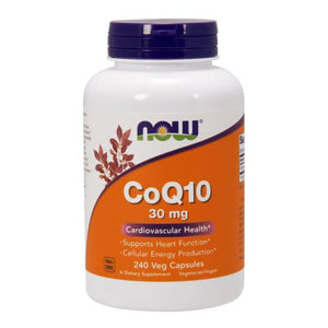 CoQ10 Vegetarian 240 Vcaps by Now Foods (2584150573141)
