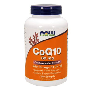 CoQ10 Fish Oils 240 Sgels by Now Foods