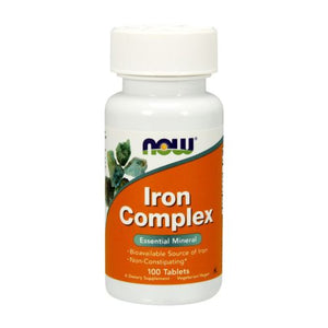 Iron Complex 100 Tabs by Now Foods (2584160370773)