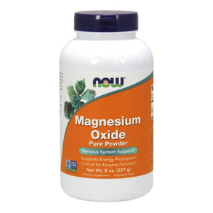 Magnesium Oxide Powder 8 OZ by Now Foods (2584164106325)