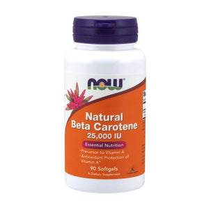 Natural Beta Carotene 90 Sofgels by Now Foods (2584165122133)
