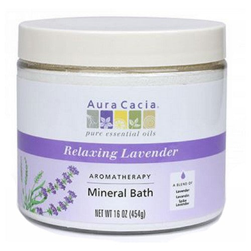 Mineral Bath Relaxing Lavender 16 Oz by Aura Cacia