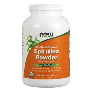 Organic Spirulina Powder 1 lb by Now Foods (2584169545813)