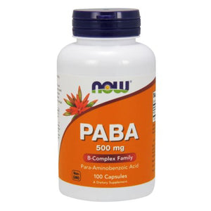 PABA 100 Caps by Now Foods (2584169906261)
