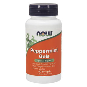 Peppermint Gels 90 Sgels by Now Foods