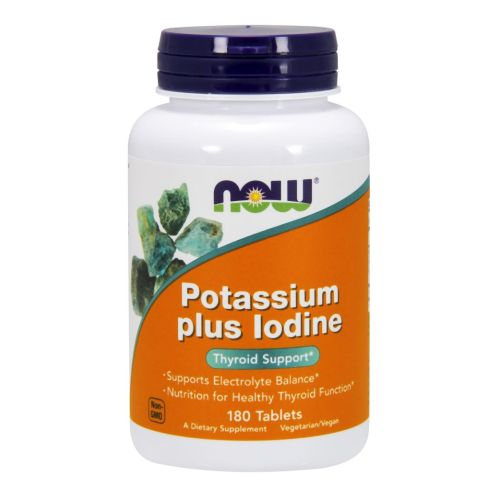 POTASSIUM PLUS IODINE 180 Tabs by Now Foods