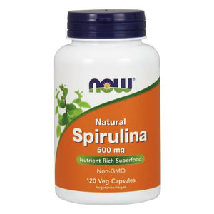 Natural Spirulina 120 Vcaps by Now Foods