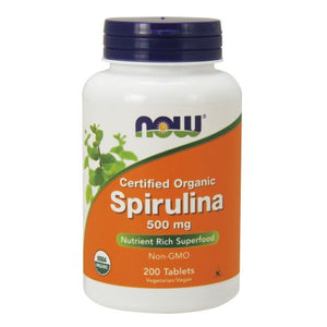 Spirulina 200 Tabs by Now Foods (2584179081301)