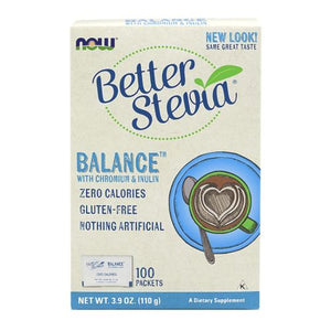 BetterStevia Balance Chromium & Inulin 100 Pkts by Now Foods (2584179540053)