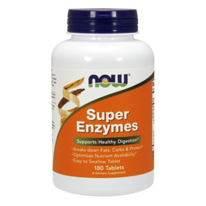 Super Enzymes 180 Tabs by Now Foods (2584180326485)