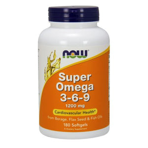 Super Omega 3-6-9 180 Sgels by Now Foods
