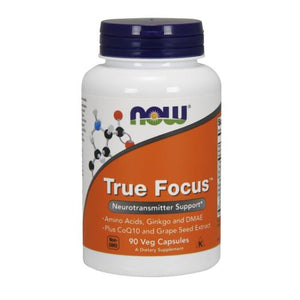 True Focus 90 Veg Capsules by Now Foods