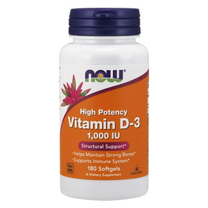 Vitamin D-3 180 Sofgels by Now Foods (2584183144533)