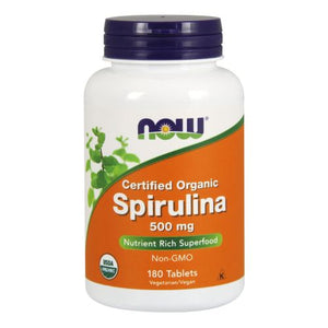 Organic Spirulina 180 Tabs by Now Foods