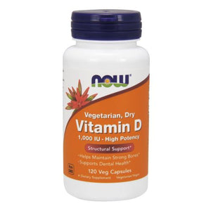 Vitamin D 1000 IU 120 Vcaps by Now Foods (2588979331157)
