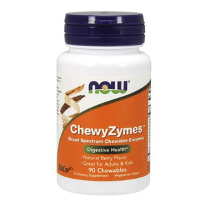 Chewyzymes 90 CHEWABLES by Now Foods (2584231247957)