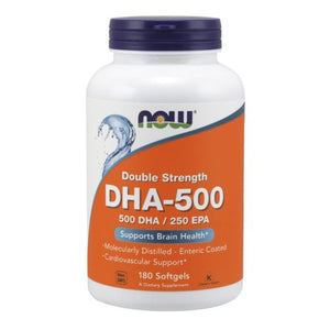 DHA-500 180 Softgels by Now Foods (2584249663573)