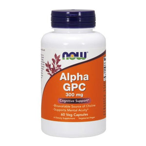 Alpha GPC 60 Vcaps by Now Foods (2584249729109)