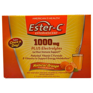 Ester-C Effervescent Natural Orange 21 Packets by Ester-C