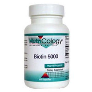Biotin 5000 60 Caps by Nutricology/ Allergy Research Group