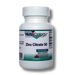 Zinc Citrate 60 Caps by Nutricology/ Allergy Research Group (2584015044693)