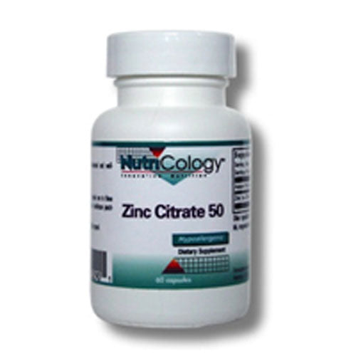 Zinc Citrate 60 Caps by Nutricology/ Allergy Research Group