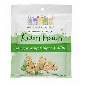 Aromatherapy Foam Bath Ginger Mint 2.5 oz by Aura Cacia (2588858941525)