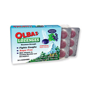 Black Currant Lozenges 24 loz by Olbas  (2584229937237)