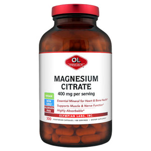 Magnesium Citrate 300 caps by Olympian Labs (2588977070165)