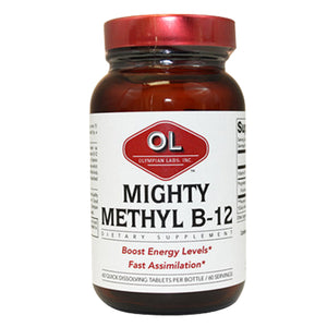 Mighty Methyl Vitamin B 12 60 tabs by Olympian Labs