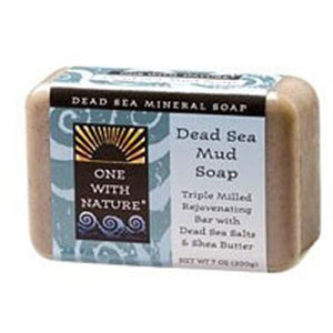 Almond Bar Soap DEAD SEA MUD, 7 OZ by One with Nature (2584136351829)