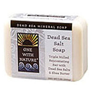 Dead Sea Salt Soap Bar DEAD SEA SALT, 7 OZ by One with Nature (2584136384597)