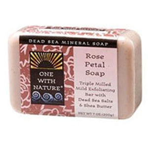 Dead Sea Bar Soap Rose by One with Nature (2588953477205)
