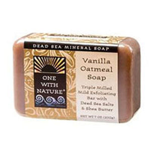 Almond Bar Soap Vanilla Oatmeal, 7 Oz by One with Nature (2584206016597)
