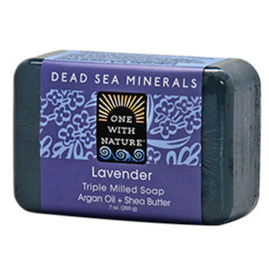 Dead Sea Bar Soap 7 Oz, Lavender by One with Nature (2588953608277)