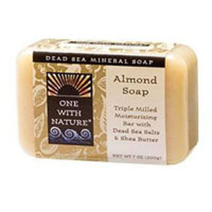 Almond Bar Soap Almond, 7 Oz by One with Nature (2588953673813)