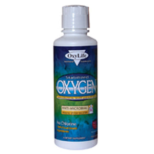 Stabilized Oxygen With Colloidal Silver UNFLAVOURED PLAIN, 16 Oz by Oxylife Products