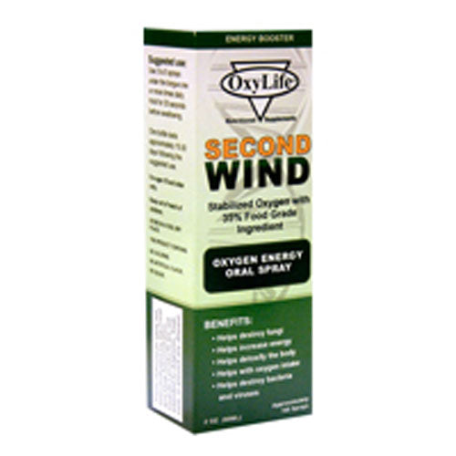 Oxylife Second Wind O2 Mint 2 OZ EA by Oxylife Products