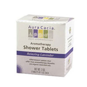 Shower Tablets Lavender 3 tablets by Aura Cacia (2584251990101)