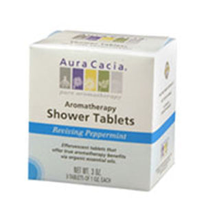 Shower Tablets Peppermint, 3 Tablets by Aura Cacia (2584252022869)