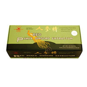 Panax Ginseng Extractum W/alcohol Pine Brand 30x10cc by Prince Of Peace