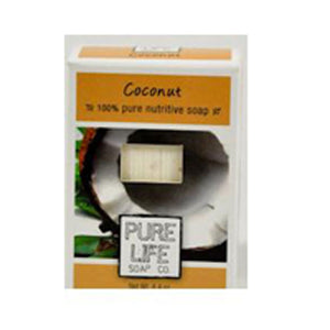 Bar Soap Coconut 4.3 OZ by Pure Life Soap Co (2588972253269)