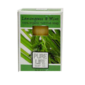 Bar Soap Lemongrass and Mint 4.4 Oz by Pure Life Soap Co (2584233771093)