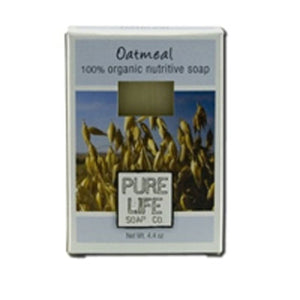 Bar Soap Oatmeal 4.4 Oz by Pure Life Soap Co (2584233836629)