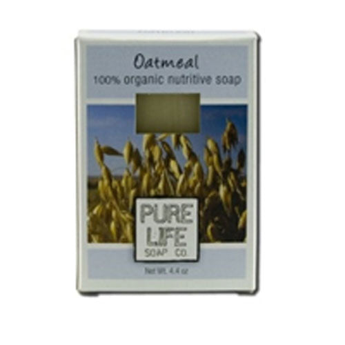 Bar Soap Oatmeal 4.4 Oz by Pure Life Soap Co