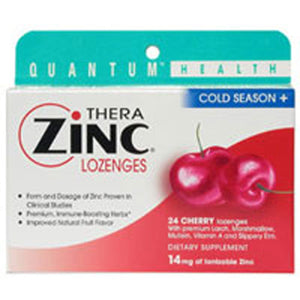 Cold Season+ TheraZinc Lozenges Cherry 24 Loz by Quantum Health (2584015732821)