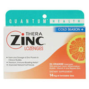 Cold Season+ TheraZinc Lozenges ORANGE LOZENGES, 24 LOZ by Quantum Health (2584015929429)